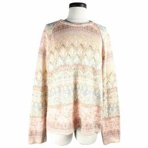 Postmark floral knit sweater | L